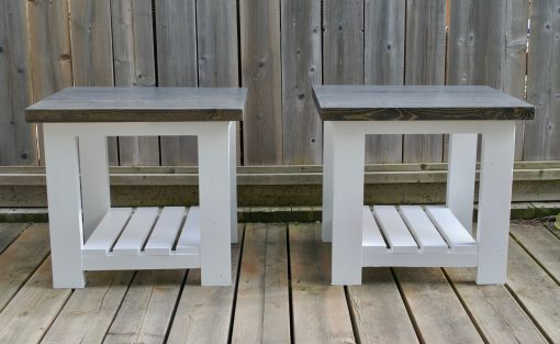 bw pine side tables